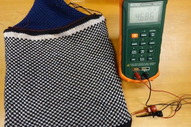 Measuring Knitted Sample