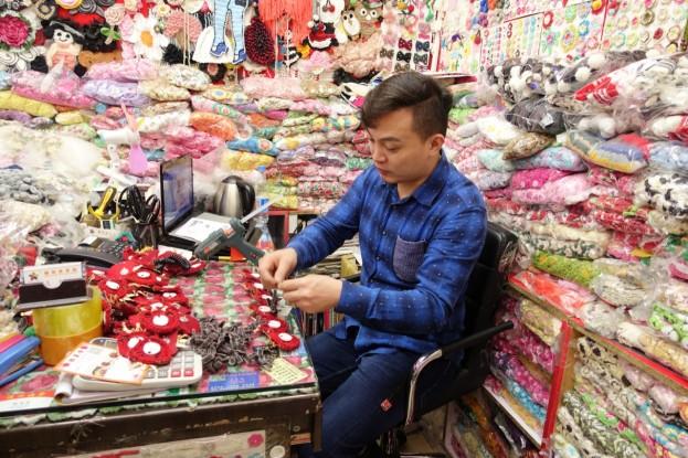 Guangzhou, textile market